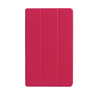 Pentru carcasa caz stand translucid origami corp plin corp solid culoare hard piele pu pentru asus z380c / kl