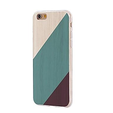 Caz pentru iphone 7 6 lemn granulă tpu soft ultra-subțire spate acoperă caz acoperă iphone 7 plus 6 6s plus se 5s 5 5c 4s 4