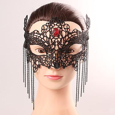 Negru masca sexy dantelă Halloween partid fantezie dantelă femeie ciucure cristal masca lenjerie dantelă masca partid