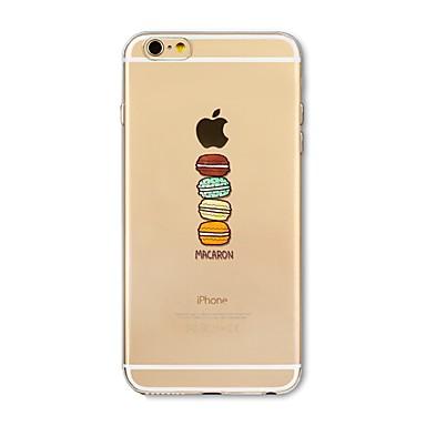 Hülle Für Apple iPhone X iPhone 8 Plus Transparent Muster Rückseite Spaß mit dem Apple Logo Lebensmittel Weich TPU für iPhone X iPhone 8