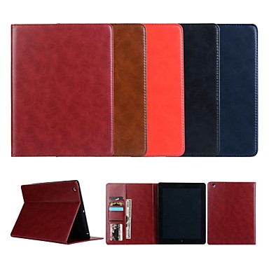 Case For Apple iPad Air 2 / iPad Pro 10.5 / iPad Pro 11'' Wallet / Card Holder / with Stand Full Body Cases Solid Colored Hard Genuine Leather for iPad Air / iPad 4/3/2 / iPad (2018) / iPad (2017)