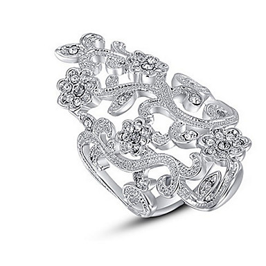 Pentru femei Band Ring Cristal Personalizat Lux Clasic De Bază Sexy Iubire Elegant Cute Stil Modă Cristal Aliaj Floare Oval Bijuterii