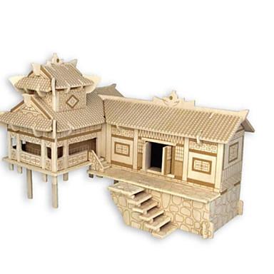 قطع تركيب3D تركيب بناء مشهور معمارية 3D اصنع بنفسك خشب الخشب الطبيعي استايل صيني للجنسين هدية