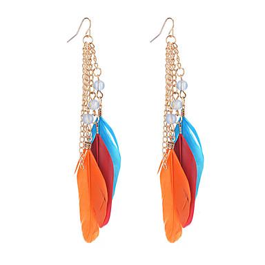 Pentru femei Cercei Picătură Imitație de Perle Bohemia Stil Perle Pană Aliaj Picătură Aripi / Pene Bijuterii PentruPetrecere Zi de