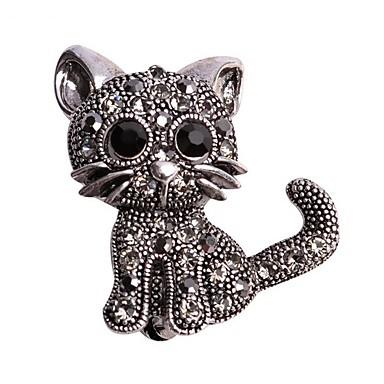 Pentru femei Broșe Design Animal Aliaj Pisici Animal Negru Bijuterii Pentru Nuntă Casual Serată Birou și carieră Anul Nou