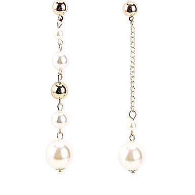 Pentru femei Cercei Stud Imitație de Perle La modă Personalizat Nepotrivirea Aliaj Round Shape Bijuterii Pentru Zilnic Concediu Plajă