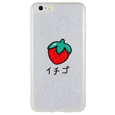 Caz pentru Apple iphone 7 plus iphone 7 acoperire strălucire în întuneric modelul spate acoperă cazul fructe stralucire straluceasca pc