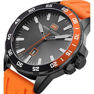 Pánské Sportovní hodinky Náramkové hodinky Křemenný Silikon Černá   Modrá    Orange 30 m Kalendář kreativita ad8e7e500d