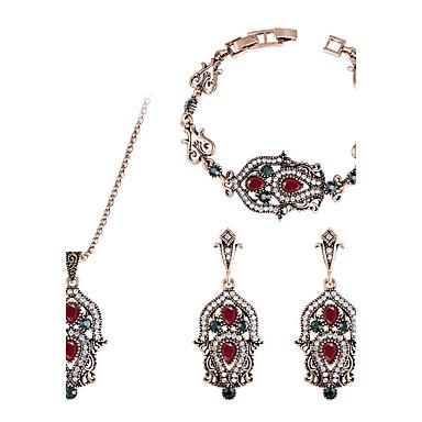 Pentru femei Brățări Bangle Cercei Picătură Coliere cu Pandativ Diamant sintetic Lux Clasic Vintage Bijuterii Statement Chrismas