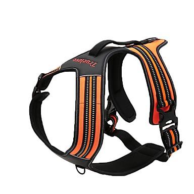 Hund Geschirre Rutschfest Reflektierend Atmungsaktiv Sicherheit Einstellbar Solide Nylon Schwarz Orange Gelb Fuchsia Blau