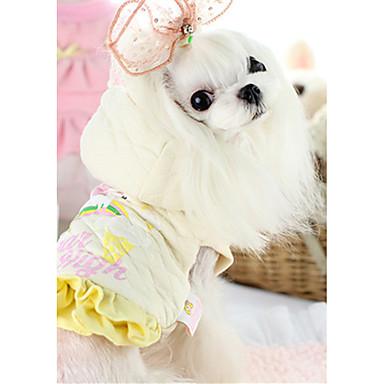 Hund Weste Hundekleidung Cartoon Design Beige Rosa Baumwolle Daune Kostüm Für Haustiere Lässig / Alltäglich