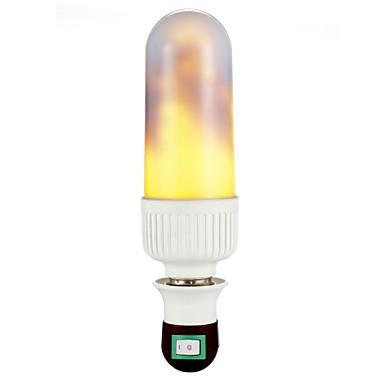 3W 200lm E27 أضواء LED ذرة T 99 المصابيح مصلحة الارصاد الجوية 3528 أبيض دافئ 1800-2000K AC100-240V