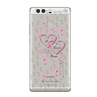Caz pentru huawei p8 lite2017 p10 acoperă carcasă transparentă inima soft tpu pentru p10 lite p10 plus p9 plus p9 lite p9 p8 lite p8 mate9