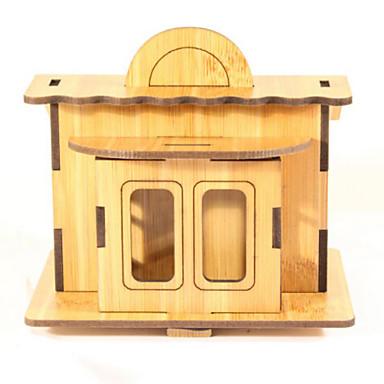 قطع تركيب3D تركيب معمارية 3D اصنع بنفسك الخشب الطبيعي عيد ميلاد للجنسين هدية