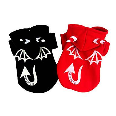 كلب ازياء تنكرية ملابس الكلاب Halloween الملاك والشيطان أسود أحمر كوستيوم للحيوانات الأليفة
