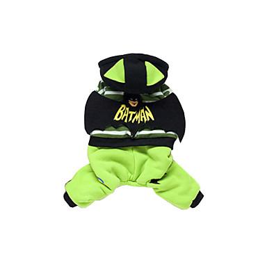 Hund Kapuzenshirts Overall Hundekleidung Cartoon Design Rot Grün Baumwolle Daune Kostüm Für Haustiere Herrn Damen Lässig/Alltäglich
