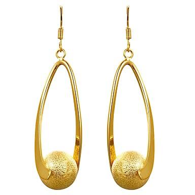 Pentru femei Cercei Picătură Bijuterii La modă Σταυρός Personalizat Cute Stil bijuterii de lux Placat Auriu Placat Cu Aur Roz Circle Shape