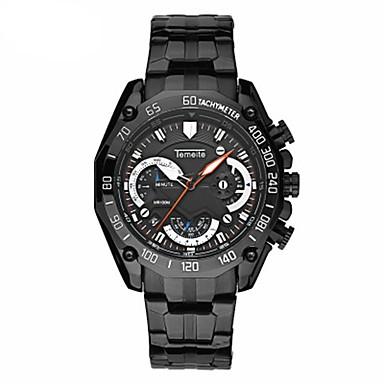 Heren Modieus horloge Kwarts Roestvrij staal Band Vrijetijdsschoenen Zwart Zilver Goud