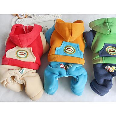 Hund Kapuzenshirts Overall Hundekleidung Lässig/Alltäglich Buchstabe & Nummer Orange Rot Grün Kostüm Für Haustiere