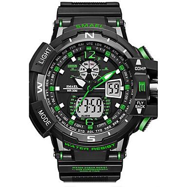 abordables Relojes de Hombre-SMAEL Hombre Reloj digital Japonés Silicona  Negro 50 m Resistente al a240a7122573