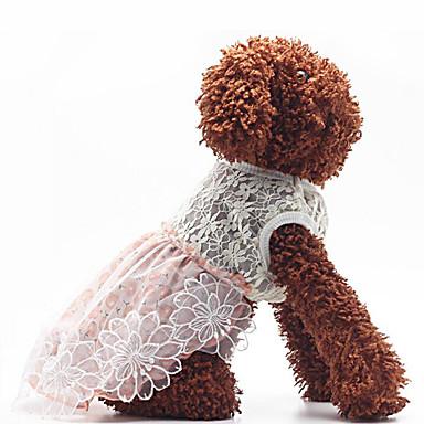 Hund Kleider Hundekleidung Lässig/Alltäglich Prinzessin Leicht Rosa Schwarz/Weiß