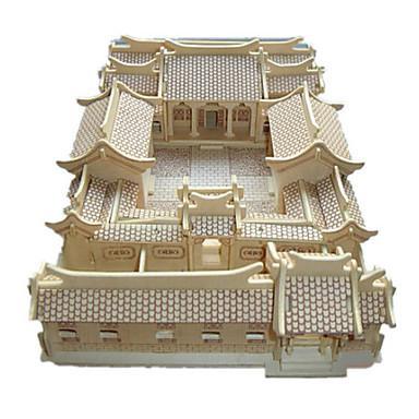 Puzzle 3D Puzzle Modele de Lemn Clădire celebru Casă De lemn Lemn natural Unisex Cadou