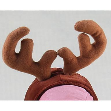 Câine Bandane & Căciuli Îmbrăcăminte Câini Mată Cafea Material Din Fâș Costume Pentru animale de companie Bărbați / Pentru femei Crăciun