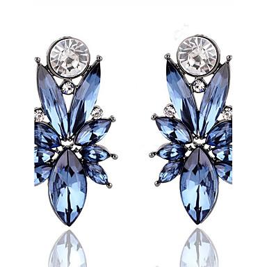 Pentru femei Diamant sintetic Cercei Stud - Leaf Shape Euramerican Auriu / Mov / Albastru Pentru Cadouri de Crăciun / Nuntă / Petrecere