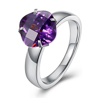 Pentru femei Band Ring Zirconiu Cubic Auriu Negru Mov Rosu Verde Cristal Teak Zirconiu Argilă Rotund Geometric Shape neregulat