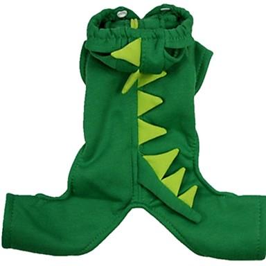 كلب ازياء تنكرية ملابس الكلاب الكوسبلاي كرتون أخضر زهري