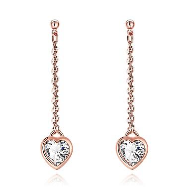 Pentru femei Cercei Picătură Zirconiu Cubic Ștras Imitație de Perle Σταυρός Personalizat Cute Stil bijuterii de lux costum de bijuterii