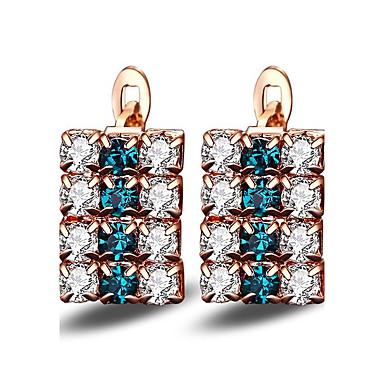 Damen Ohrstecker Kubikzirkonia Imitation Sapphire Basis Modisch individualisiert Hypoallergen Klassisch Diamantimitate Zirkon Aleación