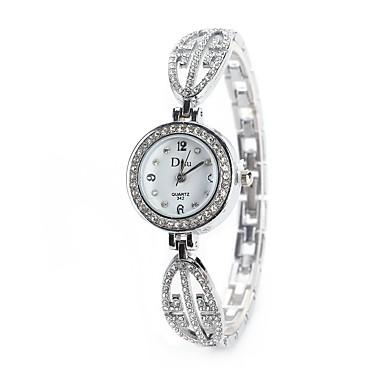 Pentru femei Ceas de Mână / Simulat Diamant Ceas Chineză imitație de diamant Aliaj Bandă Charm / Vintage / Casual Argint / Auriu / Roz auriu / Un an / TY 377A