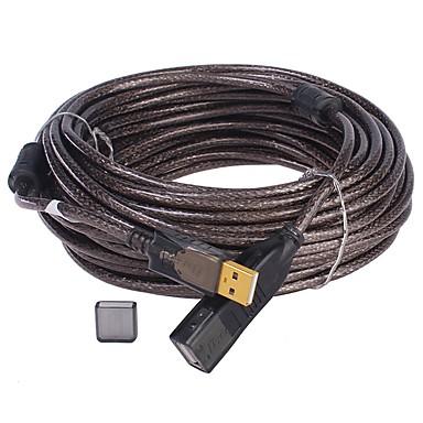 USB 2.0 Cablu prelungitor, USB 2.0 to USB 2.0 Cablu prelungitor Bărbați-Damă 20.0m (60ft)