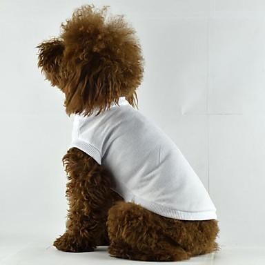 Hund T-shirt Hundekleidung Solide Weiß Schwarz Rot Blau Rosa Baumwolle Kostüm Für Haustiere Herrn Damen Lässig/Alltäglich
