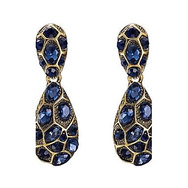 Dames Druppel oorbellen Kristal Kubieke Zirkonia Zirkonia Basisontwerp Eenvoudige Stijl Klassiek Kostuum juwelen Modieus Vintage Bohemia