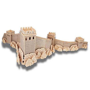 قطع تركيب3D تركيب ألعاب بناء مشهور معمارية 3D اصنع بنفسك خشب الخشب الطبيعي للجنسين قطع