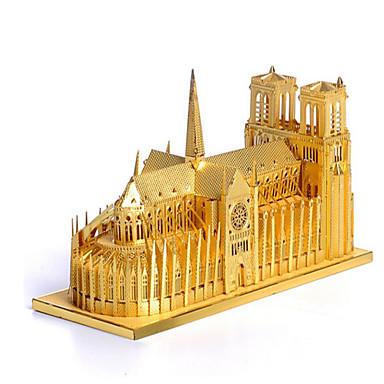 Puzzle 3D Puzzle Clădire celebru Arhitectură 3D Teak MetalPistol 6 ani și peste