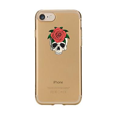 Maska Pentru Apple iPhone 7 Plus iPhone 7 Transparent Model Capac Spate Cranii Moale TPU pentru iPhone 7 Plus iPhone 7 iPhone 6s Plus