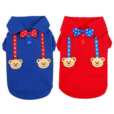 Pisici Câine Tricou Îmbrăcăminte Câini Casul/Zilnic Urs Rosu Albastru Costume Pentru animale de companie