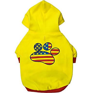 Hund Kapuzenshirts Hundekleidung Atmungsaktiv Lässig/Alltäglich Buchstabe & Nummer Gelb Kostüm Für Haustiere