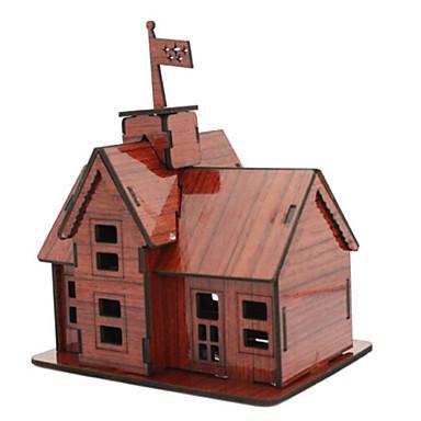 قطع تركيب3D تركيب ألعاب بيت معمارية 3D الخشب الطبيعي للجنسين الفتيان قطع