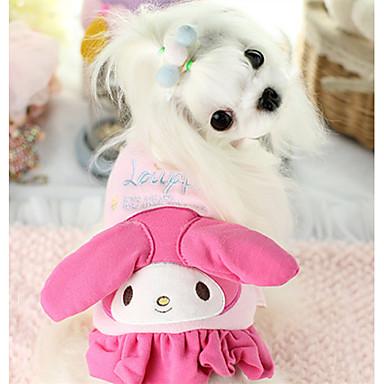 Hond Gilet Hondenkleding Warm Casual/Dagelijks Cartoon Geel Blauw Roze Kostuum Voor huisdieren