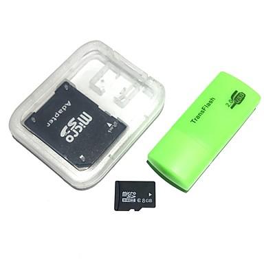 Card de memorie de 8 GB microsdhc tf cu cititor de carduri usb și adaptor sdhc sd