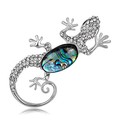 Dames Broches Bergkristal Gepersonaliseerde Luxe Klassiek Vintage Standaard Modieus Eenvoudige Stijl Elegant Kristal Gesimuleerde diamant