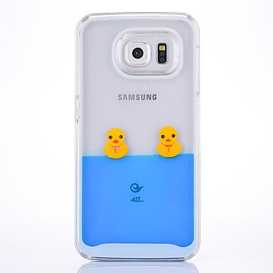 Недорогие Чехлы и кейсы для Galaxy S6 Edge-Кейс для Назначение SSamsung Galaxy S6 edge / S6 Движущаяся жидкость Кейс на заднюю панель 3D в мультяшном стиле Твердый ПК