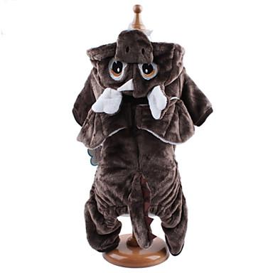 Σκύλος Στολές Φούτερ με Κουκούλα Φόρμες Ρούχα για σκύλους Ζώο Καφέ Ανοικτό Καφέ Κοτλέ Στολές Για κατοικίδια Ανδρικά Γυναικεία Χαριτωμένο