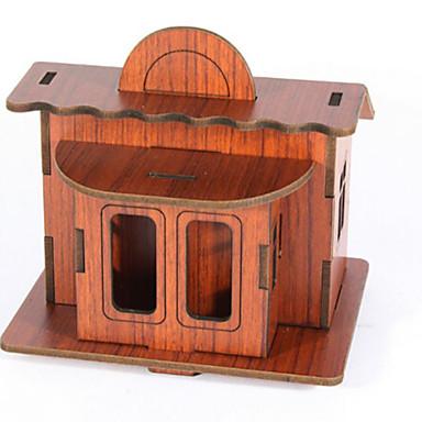 3D-puzzels Legpuzzel Speeltjes Architectuur 3D DHZ Natuurlijk Hout Unisex Stuks