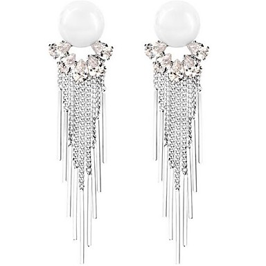Dames Druppel oorbellen Bergkristal Sexy Eenvoudige Stijl Oversized Legering Bloemvorm Sieraden Voor Bruiloft Feest Formeel