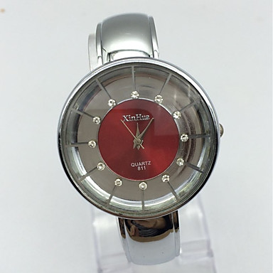 Pentru femei Ceas La Modă Ceas de Mână Chineză Quartz Metal Bandă Brățară rigidă Casual Argint